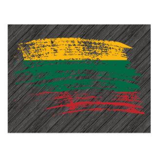 Cool Lithuanian flag design Postcard