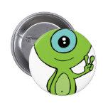 Cool Little Alien 6 Cm Round Badge