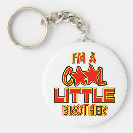 Cool Little Brother Basic Round Button Key Ring