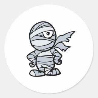 cool little mummy round sticker
