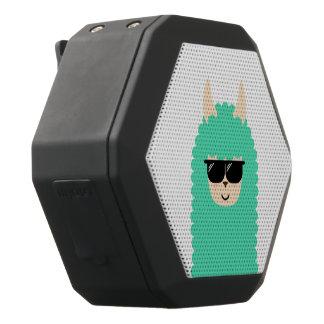 Cool Llama Emoji Black Bluetooth Speaker