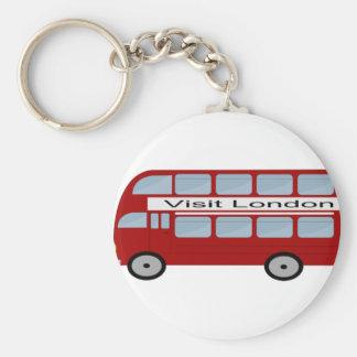 Cool London Bus Design Basic Round Button Key Ring