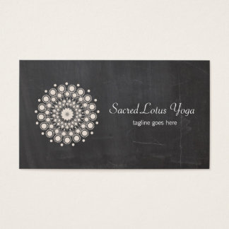 Cool Lotus Mandala Yoga Chalkboard
