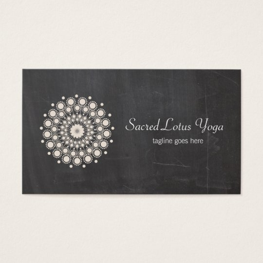 Cool Lotus Mandala Yoga Chalkboard Business Card