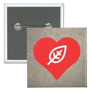 Cool Love Leaves 15 Cm Square Badge
