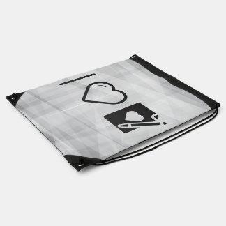 Cool Love Letter Drawstring Backpacks