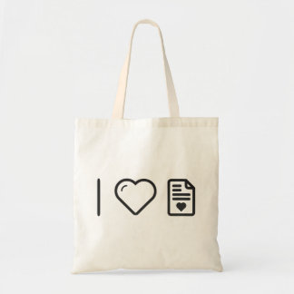 Cool Love Letters Budget Tote Bag