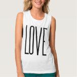 Cool Love – Minimalist Graphic Design Tank Top