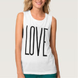 Cool Love – Minimalist Graphic Design Flowy Muscle Tank Top