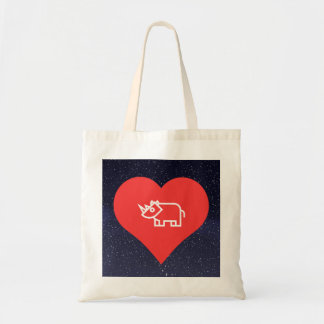 Cool Love Rhinoceros Tote Bag