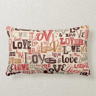 Cool Love Text Design Lumbar Cushion