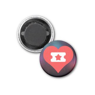 Cool Love Tickets 3 Cm Round Magnet