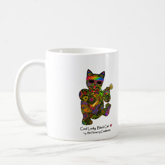 Cool Lucky Black Cat Coffee Mug
