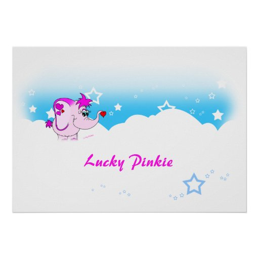 Cool Lucky Pinkie Thank You Poster