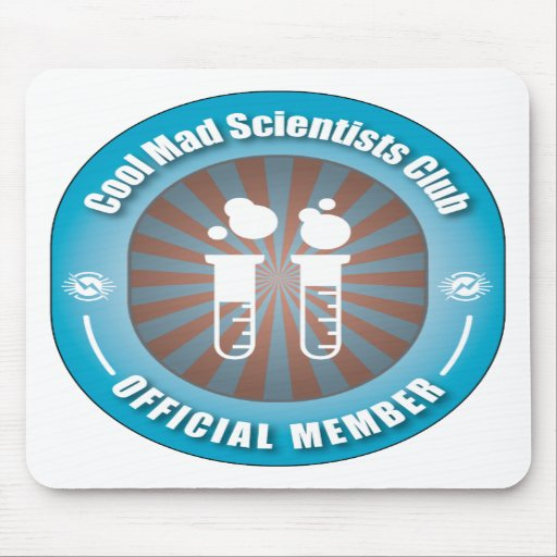 Cool Mad Scientists Club Mouse Pads