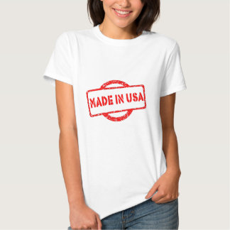 Cool made in usa stamp red effects t-shirt