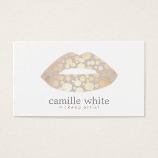 Cool Makeup Artist Gold Lips Logo Beauty Salon