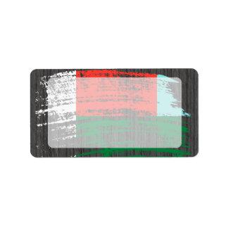 Cool Malagasy flag design Address Label