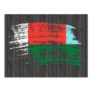Cool Malagasy flag design Postcard