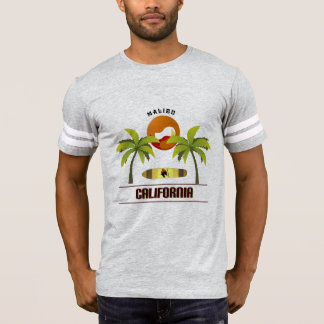 "Cool ""Malibu California"" T-shirt for men"