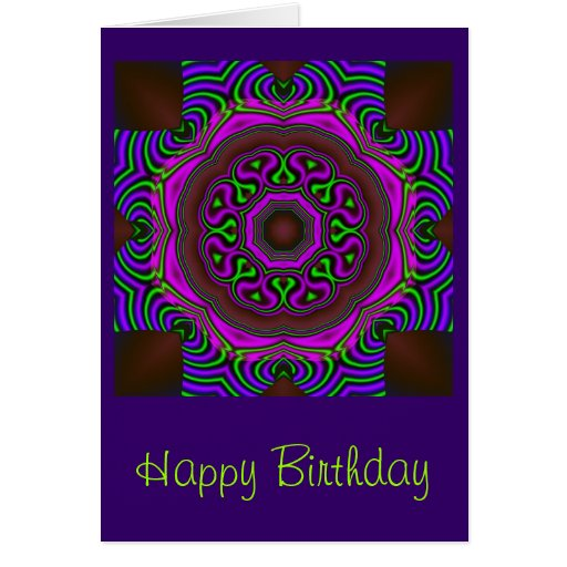 cool mandala birthday card zazzle. Black Bedroom Furniture Sets. Home Design Ideas