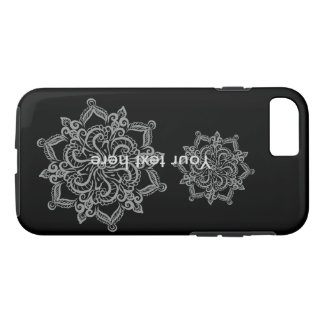 Cool mandala pattern black iPhone 7 phone case