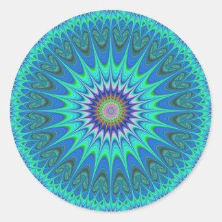 Cool mandala round sticker
