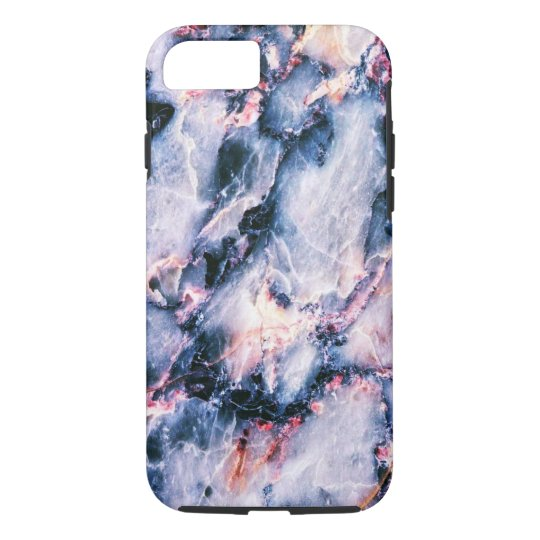 Cool Marble Texture blue pink white iPhone 7