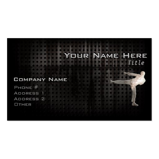 create your own martial artist business cards