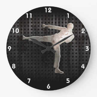 Cool Martial Arts Large Clock