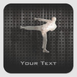 Cool Martial Arts Square Stickers