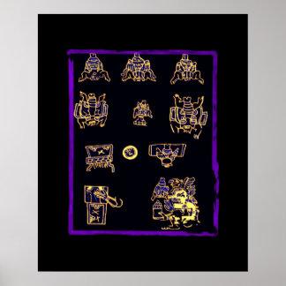 Cool Mayan Design Print