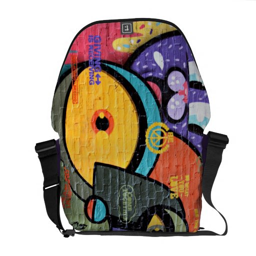 Cool Meaningful Brick Wall Grafitti Art Messenger Bags