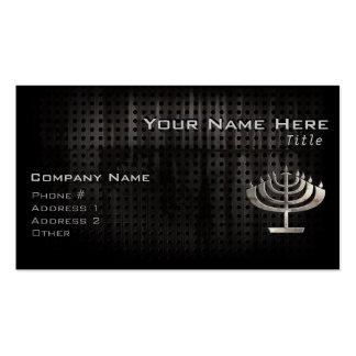 Cool Menorah Business Card Template