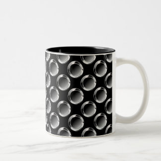 Cool Mens Masculine Design Two-Tone Coffee Mug