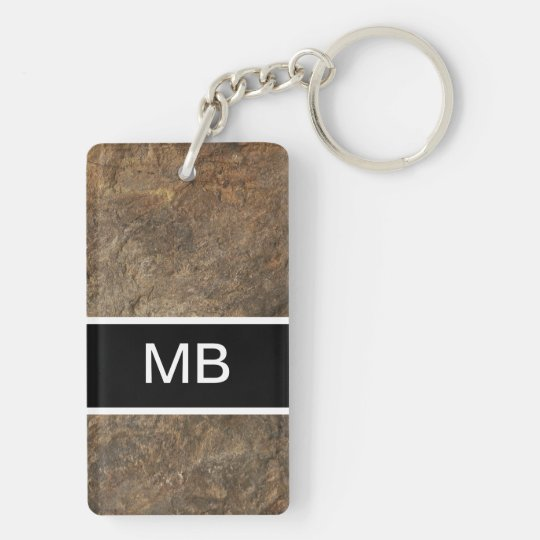 Cool Men's Monogram Keychain