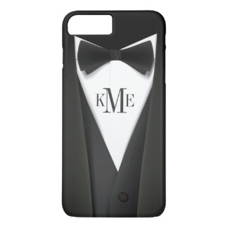 Cool Mens Tuxedo Suit Pattern - Manly Monogram iPhone 8 Plus/7 Plus Case