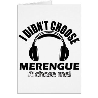 Cool merengue designs greeting cards