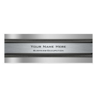 Cool Metal and Carbon Fibre Look Automotive Pack Of Skinny Business Cards