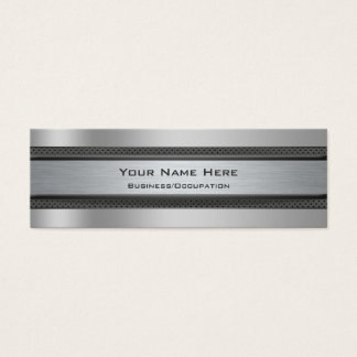 Cool Metal and Carbon Fibre Look Automotive Mini Business Card