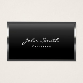 Cool Metal Border Chauffeur Business Card