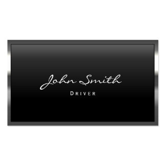 Cool Metal Border Driver Business Card