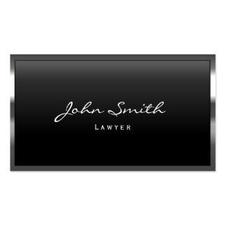 Cool Metal Border Lawyer Business Card