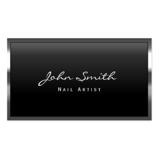 Cool Metal Border Nail Art Business Card
