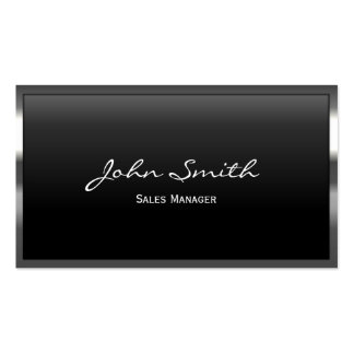 Cool Metal Border Sales Manager Business Card