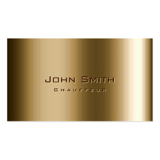 Cool Metal Bronze Chauffeur Business Card