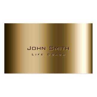 Cool Metal Bronze Life Coach Business Card