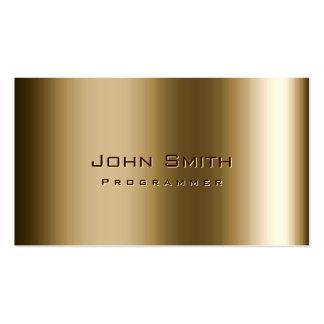 Cool Metal Bronze Programmer Business Card