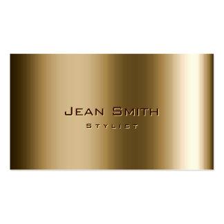 Cool Metal Bronze Stylist Business Card