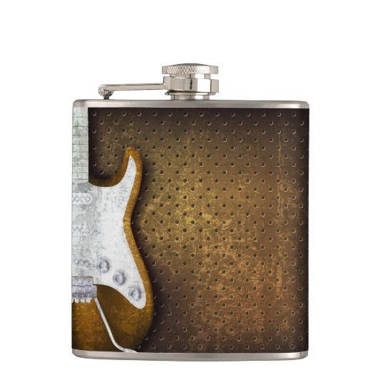 Cool Metal Grunge Electric Guitar Liquor Hip Flask